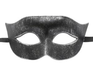 Silver and Black Classic Masquerade Mask