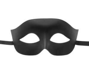 Matte Black Masquerade Mask
