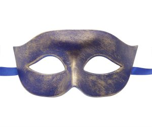 Blue and Gold Classic Masquerade Mask