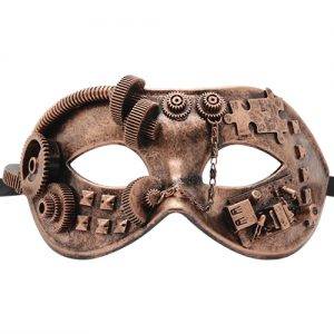 Steampunk Gear & Puzzle Copper Mask