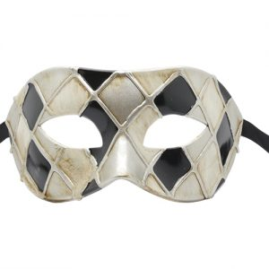 Black and White Masquerade Mask