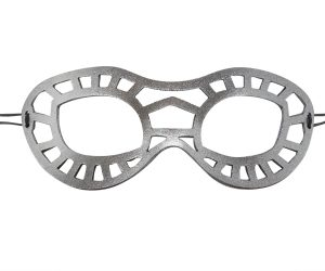 Silver Superhero Leather Eye Mask
