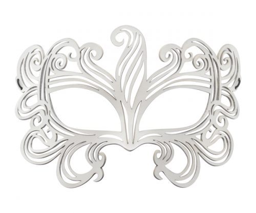 White Leather Masquerade Mask