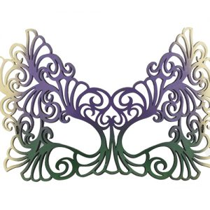 Green, Purple, and Gold Filigree Masquerade Mask