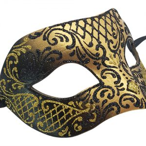 Black And Gold Authentic Masquerade Mask